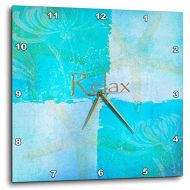 3dRose DPP_79350_3 Relax Starfish Aqua and Blue Beach Theme with Ocean Colors-Wall Clock, 15 by 15-Inch