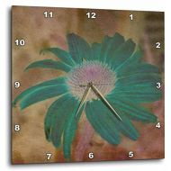 3dRose DPP_42736_3 Teal Echinacea Flower- Floral Art Wall Clock, 15 by 15