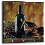 3dRose dpp_36496_3 Glass of Wine in Napa-Wall Clock, 15 by 15-Inch