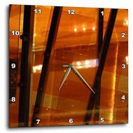 3dRose dpp_29795_3 Orange Contemporary-Wall Clock, 15 by 15-Inch