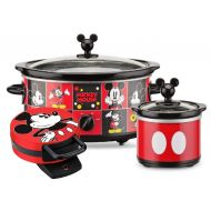 Acme Communications Disney Mickey Mouse 5-Quart Slow Cooker with 20-Ounce Dipper and Waffle Maker