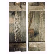 Alder & Elder Rustic Decorative Barn Wood Shutter Set Of 2 For Wall Decor, Window Accents - Add That Touch of Barn Wood Style and Rustic Decor To Any Room - Great for Home Decor, Rustic Decor an