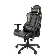 Arozzi Verona Pro V2 Premium Racing Style Gaming Chair with High Backrest, Recliner, Swivel, Tilt, Rocker and Seat Height Adjustment, Lumbar and Headrest Pillows Included, Carbon B