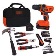 BLACK+DECKER LDX20WPK2B 20V MAX Lithium Ion Drill with 56 Piece Project Kit