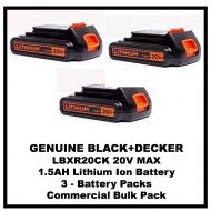 BLACK+DECKER LBXR20 20-Volt MAX Battery (3-Battery)
