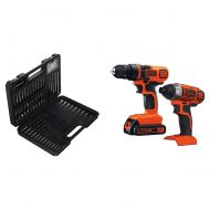 BLACK+DECKER 15557 10-Piece Drill Bit Set with Black & Decker 20V MAX Drill/Driver Impact Combo Kit