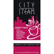 BUNN City Steam 17590 Variety Pack Single Cup Coffee Pods, 18-count
