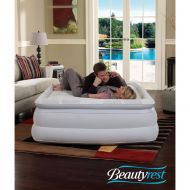 Simmons Beautyrest Silver Memory Aire with Internal Pump Raised Air Mattress, Queen 18 Inch