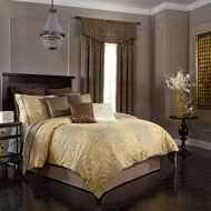 Beautyrest Sandrine 104-Inch by 96-Inch 4-Piece King Comforter Set, Gold