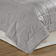 Beautyrest Eiffel Quilted Warming Technology Blanket, Queen, Grey