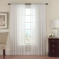 Beautyrest Vue Signature 14470052095WHI Textured Chiffon 52-Inch by 95-Inch Single Window Curtain Panel, White