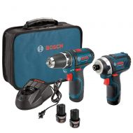 Bosch CLPK22-120-RT 12 Volt Li-Ion 2-Tool Combo Kit Drill/Driver and Impact Driver (Certified Refurbished)
