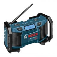 Bosch 18-Volt or 120V Compact AMFM Radio with MP3 Player Connection Bay PB180