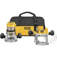 Bosch DEWALT DW618PKB 2-1/4 HP EVS Fixed Base/Plunge Router Combo Kit with Soft Start with DW6183 D-Handle Base for DW616/618 Routers