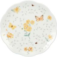 Brand: Lenox Lenox Butterfly Meadow Dessert Plates, 8-Inch, Assorted Colors, Set of 4, White - 829050