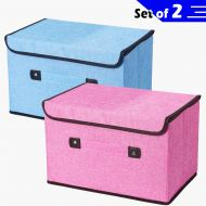 BubbleKiss Storage Cubes 15x9.8x9.8 Storage Bins Fabric Foldable Storage Boxes Containers with Lid and Handle Large Storage Baskets for Closet Organizer Toy