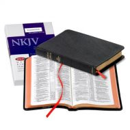 ByBaker Publishing Group NKJV Pitt Minion Reference Bible, Black Goatskin Leather, Red-letter Text, NK446:XR