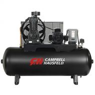 Air Compressor, 80 Gallon Horizontal Tank, Two Stage, 17.2 CFM, 5 HP, 208-230/460V 3PH (Campbell Hausfeld CE7053)