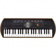 Casio},description:The Casio 44-key SA-76 offers all discoverers of music the essentials for playing those first tunes. 100 tones, 50 rhythms and 10 integrated songs provide variet