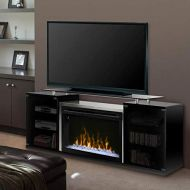 DIMPLEX Marana Media Console Electric Fireplace Acrylic Ember Bed Black/1500