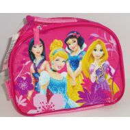 Disney Princess Cinderella Rapunzel Mulan Snow White Lunch Tote Box Bag Pink Glitter