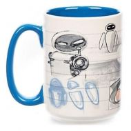 Disney Toy Story Wall-E Eve Sketch Ceramic Mug NEW