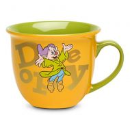 Disney Store Dopey Coffee Mug Cup Gold Green 2014 Dwarf