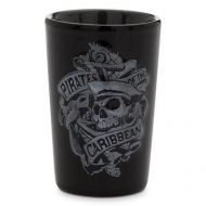 Disney Pirates of the Caribbean Black Ceramic Shot Glass by Disney