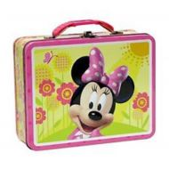 Disney Minnie Mouse Embossed Metal Lunch Box/ Carry-All