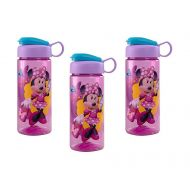 Disney [3-Pack Minnie Mouse 16.5oz Kids Sullivan Sports Water Bottle, BPA-Free