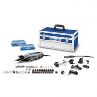 Dremel 4300-964 High Performance Rotary Tool Kit with Universal 3-Jaw Chuck, 9 Attachments and 64 Accessories