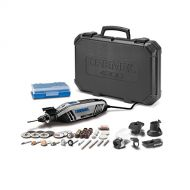 Dremel 4300-540 High Performance Rotary Tool Kit with Universal 3-Jaw Chuck, 5 Attachments and 40 Accessories