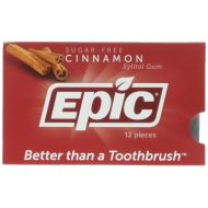 Epic Dental 100% Xylitol Sweetened Gum, Cinnamon, 50 Count (Pack of 3)