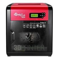 XYZprinting da Vinci 1.0 Pro 3in1 Wireless 3D PrinterScanner 7.8x7.8x7.5, Heated Bed, Upgradable Laser Engraver, 3rd Party Filaments
