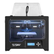 FlashForge 3D Printer Creator Pro, Metal Frame Structure, Acrylic Covers, Optimized Build Platform, Dual Extruder W2 Spools, Works with ABS and PLA