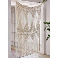 Flber Macrame Curtain Large Wall Hanging Bohemian Wedding Decor, 50 w x 75 h