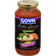 Goya Foods Pasta Sauce All Natural Chunky, Garlic & Cilantro, 25 Ounce (Pack of 12)