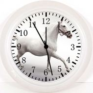 IKEA New White Horse Wall Clock 10 Will Be Nice Gift and Room Wall Decor W55