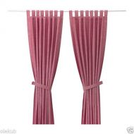 IKEA Ikea Curtains with tie-backs, 1 pair, light red 55x98 , 34214.5295.1620