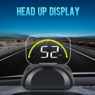 IKiKin iKiKin Car Head-Up Display with OBD GPS Dual Mode Universal HD HUD Display for Car Foldable Dashboard Projector of Speedometer Engine RPM Water Temperature Alert
