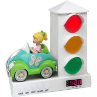 Its About Time Stoplight Sleep Enhancing Alarm Clock for Kids, Red and Blue Sports Car
