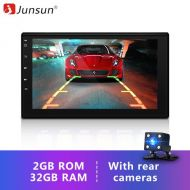 "[직배송][추가금없음]Junsun 7"" 2 Din 2G+32G Android 7.1 Car Multimedia Player Tap PC Tablet GPS navigation for nissan autoradio Stereo headrest radio"