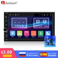 "[직배송][추가금없음]Junsun R179 7"" 2 din Android 7.1.2 Car Multimedia Radio Player For Nissan Wi-Fi GPS Navi 32GB ROM 8 Core car Universale radio"