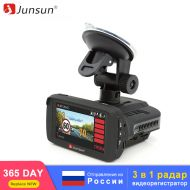 Junsun TOP Car DVR Dash Cam Ambarella 3 in 1 Video Recorder Radar Detector GPS FHD 1296P Registrar Dashcam AntiRadar for Russia