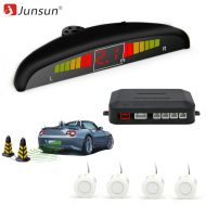 Junsun Car Auto LED Parking Sensor With 4 Sensors Parktronic Reverse Backup Car Parking Radar Monitor Detector System
