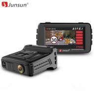 Junsun Car Video Recorder Radar Detector GPS 3 in 1LDWS HD 1296P Ambarella AntiRadar Detector 170 Degree Angle Russian Registrar