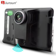 Junsun Car GPS navigator 7 Android Navigation Radar Detector with DVR camera Automobile Navigator Europe Map