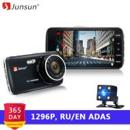 Junsun 4.0 IPS Car DVR Camera Dual Lens Dash Cam FHD 1296P with Rear view Auto Registrator Digital Video Recorder Camcorder
