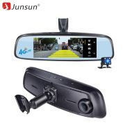 Junsun ADAS Car camera DVR detector 4G Camera Video recorder mirror 7.86 Android 5 with two camera dash cam Registrar black box