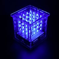 KEYESTUDIO 444 LED Cube Light Kit with Control Board and Tutorial for Arduino Diffuse Blue Light LED Cube 3-Dimensional Display, Funny Electronic Learning Toys for Stem Education